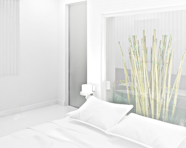 White themed hotel room with bed
